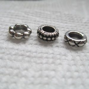 pandora Jewelry - Pandora lot of 3 spacers retired